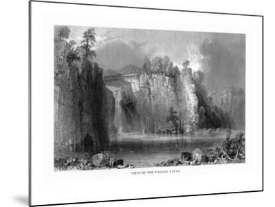 New Jersey, View of the Passaic Falls-Lantern Press-Mounted Art Print