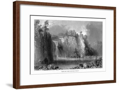 New Jersey, View of the Passaic Falls-Lantern Press-Framed Art Print