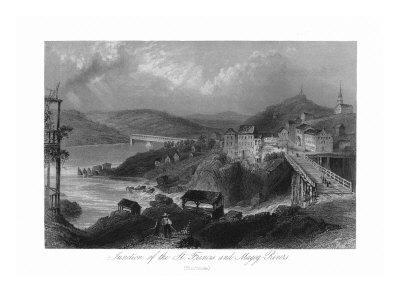 Sherbrooke, Quebec, Canada, St. Francis and Magog River Junction View-Lantern Press-Framed Art Print