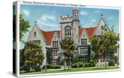 Chicago, Illinois, University of Chicago, Exterior View of the Ryerson Physical Laboratory-Lantern Press-Stretched Canvas Print