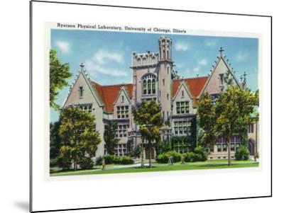 Chicago, Illinois, University of Chicago, Exterior View of the Ryerson Physical Laboratory-Lantern Press-Mounted Art Print