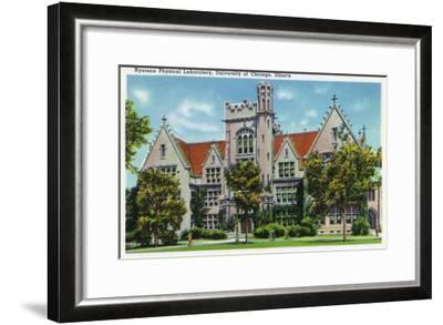 Chicago, Illinois, University of Chicago, Exterior View of the Ryerson Physical Laboratory-Lantern Press-Framed Art Print