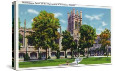 Chicago, Illinois, University of Chicago, View of Hutchinson Court-Lantern Press-Stretched Canvas Print