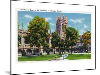 Chicago, Illinois, University of Chicago, View of Hutchinson Court-Lantern Press-Mounted Art Print