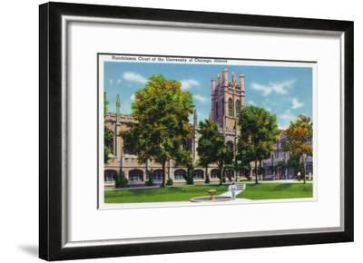 Chicago, Illinois, University of Chicago, View of Hutchinson Court-Lantern Press-Framed Art Print