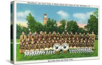 Mooseheart, Illinois, View of the Boy Scout Drum and Bugle Corps-Lantern Press-Stretched Canvas Print