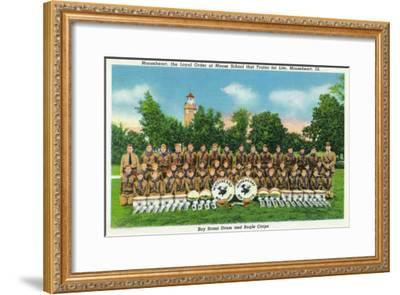 Mooseheart, Illinois, View of the Boy Scout Drum and Bugle Corps-Lantern Press-Framed Art Print