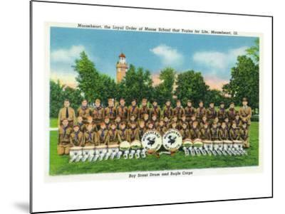 Mooseheart, Illinois, View of the Boy Scout Drum and Bugle Corps-Lantern Press-Mounted Art Print