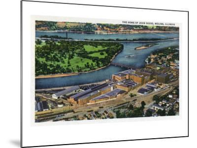 Moline, Illinois, Aerial View of the John Deere Plant-Lantern Press-Mounted Art Print