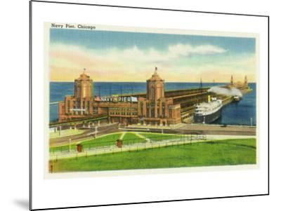 Chicago, Illinois, Panoramic View of Navy Pier-Lantern Press-Mounted Art Print