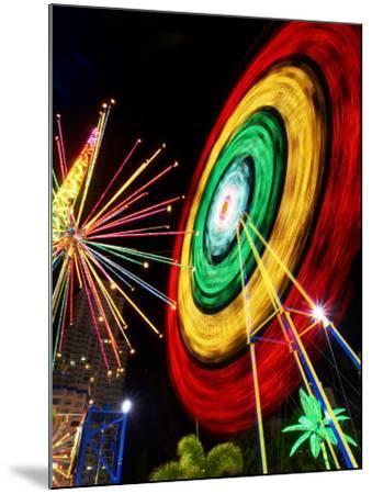 Amusement Park at Night, Surfers Paradise, Gold Coast, Queensland, Australia-David Wall-Mounted Photographic Print