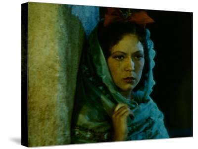 Frame of Hand-Tinted Silent Film-Fritz Goro-Stretched Canvas Print