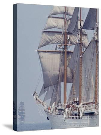 Operation Sail in New York Harbor-John Loengard-Stretched Canvas Print