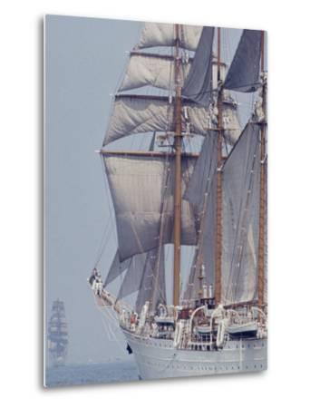 Operation Sail in New York Harbor-John Loengard-Metal Print