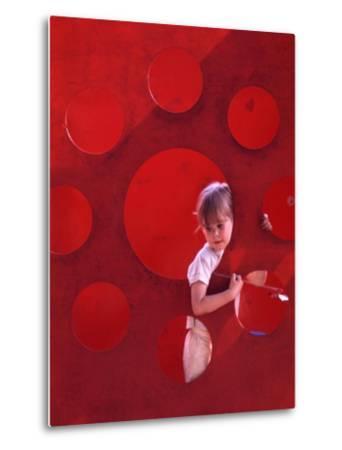 Children at Play in New York City Playgrounds-John Zimmerman-Metal Print