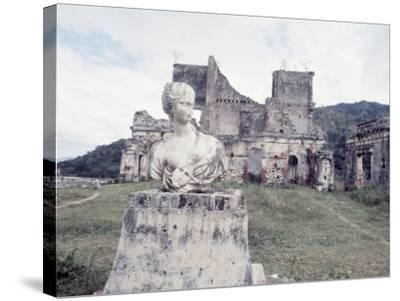 Unidentified Ruins Including Bust of a Woman in Haiti-Lynn Pelham-Stretched Canvas Print