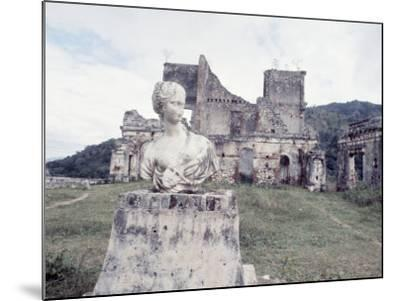 Unidentified Ruins Including Bust of a Woman in Haiti-Lynn Pelham-Mounted Photographic Print