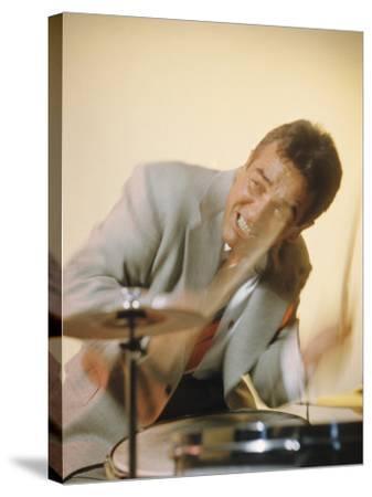 Jazz Drummer Gene Krupa in Action-Eliot Elisofon-Stretched Canvas Print