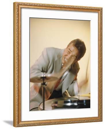 Jazz Drummer Gene Krupa in Action-Eliot Elisofon-Framed Premium Photographic Print