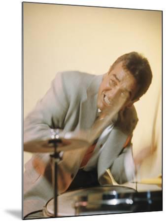 Jazz Drummer Gene Krupa in Action-Eliot Elisofon-Mounted Premium Photographic Print