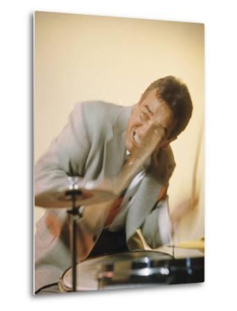 Jazz Drummer Gene Krupa in Action-Eliot Elisofon-Metal Print
