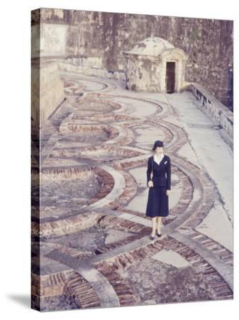 Eastern Airlines Stewardesses in Puerto Rico-Joe Scherschel-Stretched Canvas Print