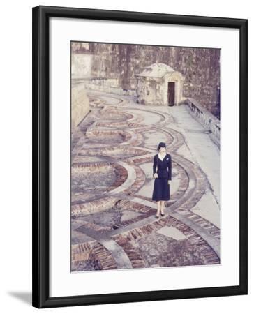 Eastern Airlines Stewardesses in Puerto Rico-Joe Scherschel-Framed Photographic Print