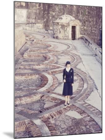 Eastern Airlines Stewardesses in Puerto Rico-Joe Scherschel-Mounted Photographic Print