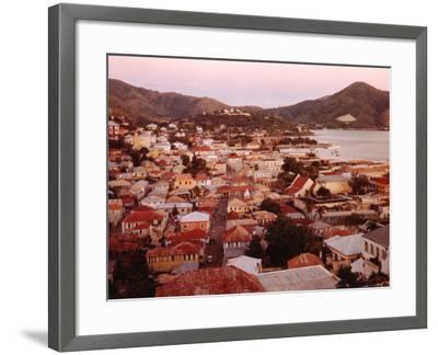 The Carribean: Low Aerials of Charlotte Amalie Capital of St Thomas-Eliot Elisofon-Framed Photographic Print