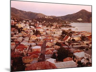 The Carribean: Low Aerials of Charlotte Amalie Capital of St Thomas-Eliot Elisofon-Mounted Photographic Print