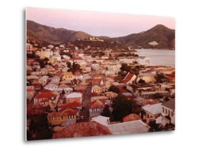 The Carribean: Low Aerials of Charlotte Amalie Capital of St Thomas-Eliot Elisofon-Metal Print