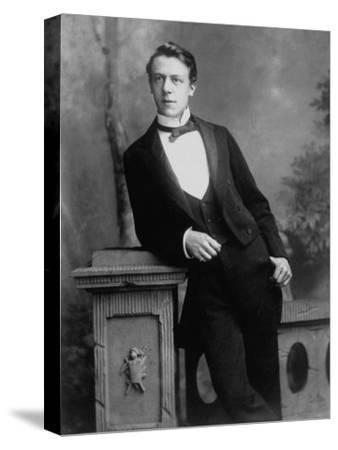 Elgant Young Man Posing for Studio Portrait Attired in Black Tie and Tails--Stretched Canvas Print