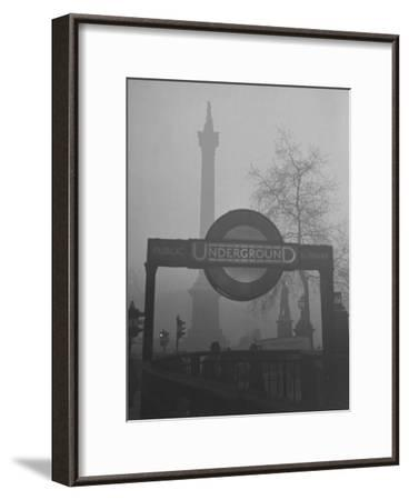 View of the Fog Drenched Streets of London-Tony Linck-Framed Photographic Print