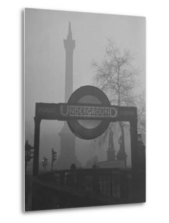 View of the Fog Drenched Streets of London-Tony Linck-Metal Print