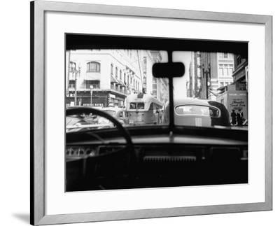 Traveling Through Rush Hour Traffic in Downtown Los Angeles-Loomis Dean-Framed Photographic Print