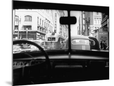 Traveling Through Rush Hour Traffic in Downtown Los Angeles-Loomis Dean-Mounted Photographic Print