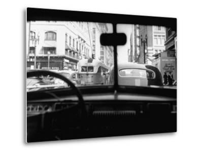 Traveling Through Rush Hour Traffic in Downtown Los Angeles-Loomis Dean-Metal Print