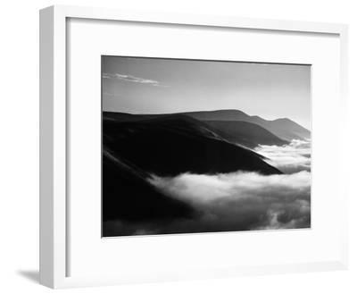Banks of Fog Enveloping Mountains Outside San Francisco-Margaret Bourke-White-Framed Photographic Print