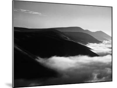 Banks of Fog Enveloping Mountains Outside San Francisco-Margaret Bourke-White-Mounted Photographic Print