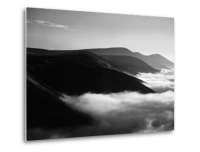 Banks of Fog Enveloping Mountains Outside San Francisco-Margaret Bourke-White-Metal Print