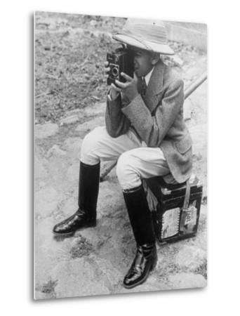 Young Man with a Brownie Camera-Alfred Eisenstaedt-Metal Print