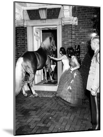 People Bringing in Horse at Dwight D. Eisenhower's Inauguration Party-Cornell Capa-Mounted Photographic Print