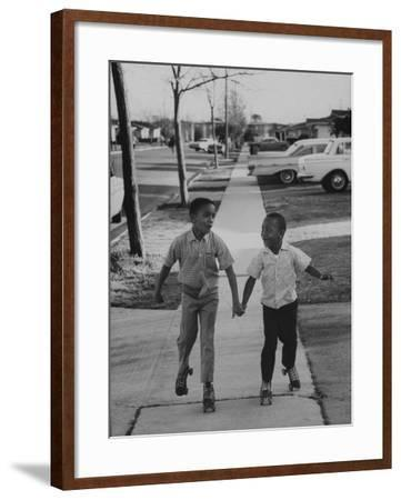 Children Adopted by Single Parents from Los Angeles County Bureau of Adoptions Rollerskating-Bill Ray-Framed Photographic Print
