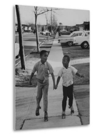 Children Adopted by Single Parents from Los Angeles County Bureau of Adoptions Rollerskating-Bill Ray-Metal Print