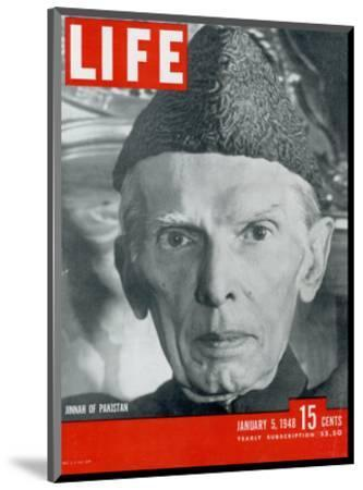 Jinnah of Pakistan, January 5, 1948-Margaret Bourke-White-Mounted Photographic Print