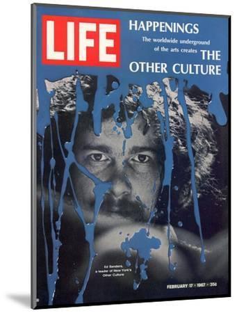 New York Counter Culture Leader Ed Sanders, February 17, 1967-John Loengard-Mounted Photographic Print