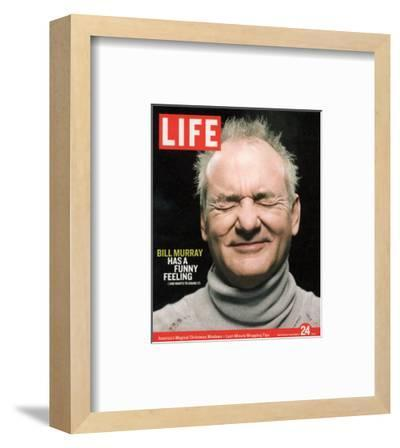 Actor Bill Murray with Eyes Closed, December 24, 2004-Karina Taira-Framed Premium Photographic Print