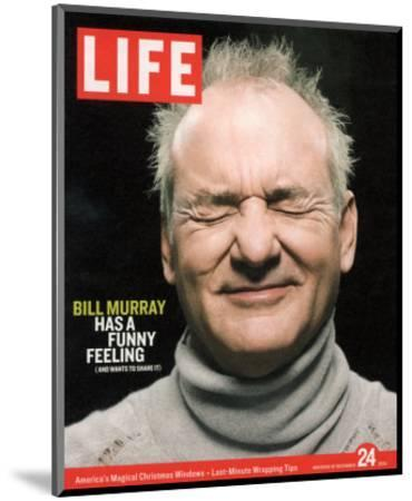 Actor Bill Murray with Eyes Closed, December 24, 2004-Karina Taira-Mounted Premium Photographic Print