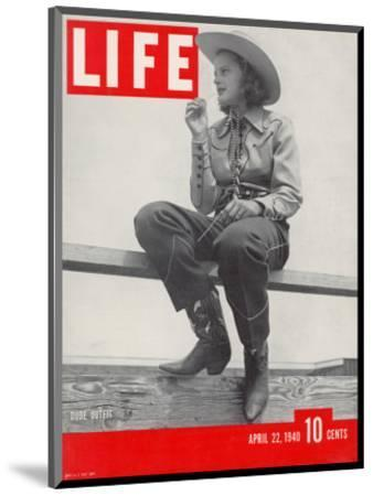 14-yr-old Cowgirl Jimmy Rogers Showing off Latest Western Clothing Trend, April 22, 1940-Peter Stackpole-Mounted Photographic Print