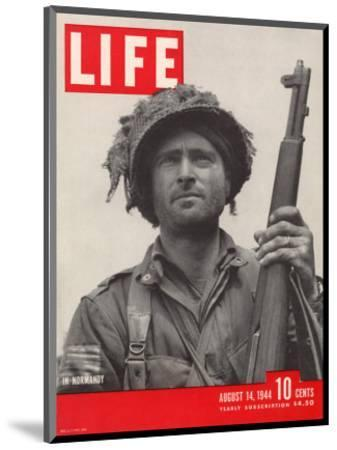 Lieutenant Kelso C. Horne of US Airborne Infantry, Part of Invasion at Normandy, August 14, 1944-Bob Landry-Mounted Photographic Print
